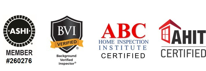 ASHI Member, BVI, ABC Home Inspection and AHIT Certified logos