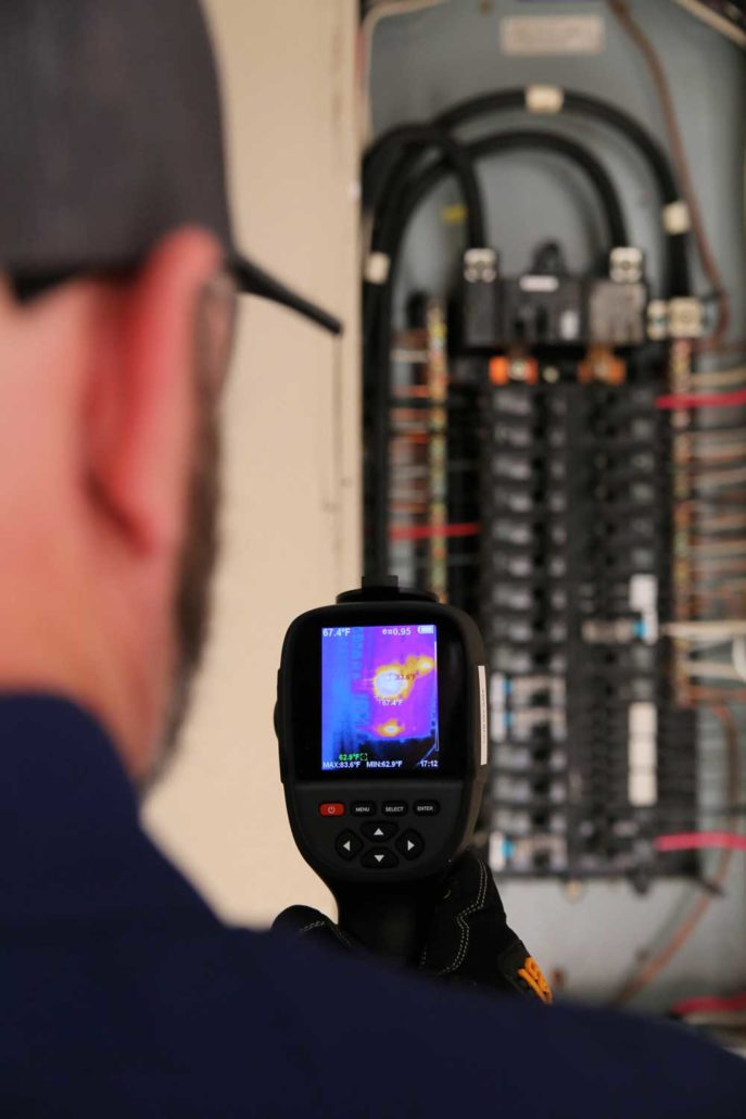 Clear Choice Owner, Josh Rose Using Infrared Imaging device